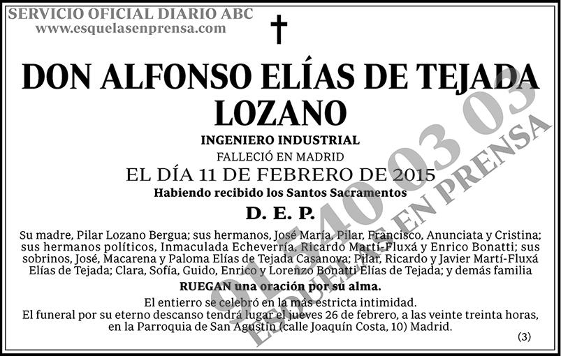 Alfonso Elías de Tejada Lozano